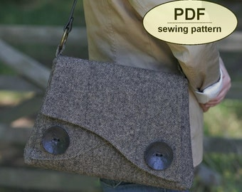 New: Sewing pattern to make the Thornham Bag - PDF pattern INSTANT DOWNLOAD