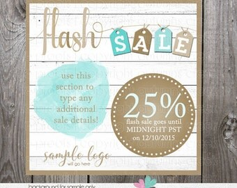 flash sale image - photoshop layered psd for social media post - flash sale post image graphic - photoshop template psd