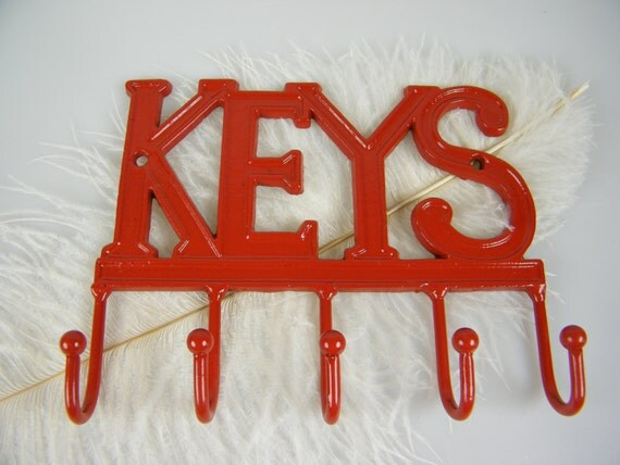 Red Key Rack Key Holder