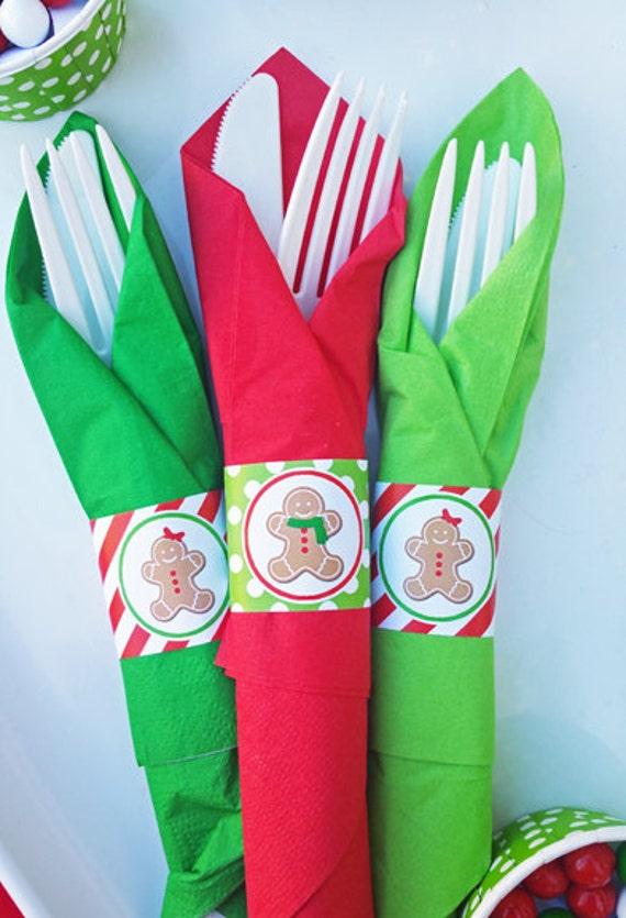 Christmas Napkin Rings Printable Gingerbread Christmas is