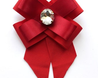 Red brooch