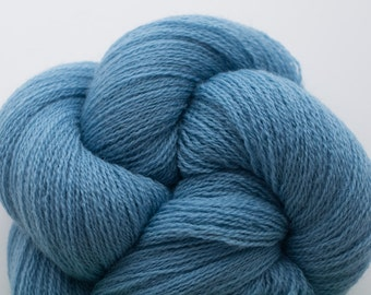 Lace Weight Recycled Merino Yarn, Glaucous Blue Recycled Merino Lace Weight Yarn, 2617 Yards Available