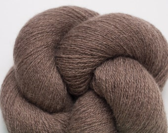 Cocoa Brown Cashmere Lace Weight Recycled Yarn, 3242 Yards Available