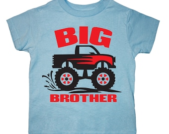 Big Brother Monster Truck Shirt - any name - pick your colors!