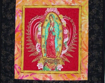 Our Lady of Guadalupe Quilted Wall Hanging