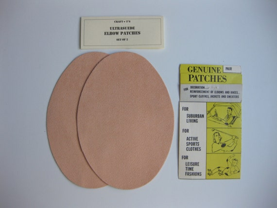 Elbow Patches -  Peach Ultrasuede - Set of 2