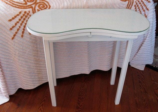 Vintage Kidney Shaped Vanity Dressing Table Desk Computer