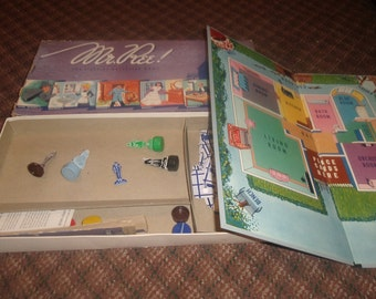 vintage family board game mr ree selchow righter 1955 complete