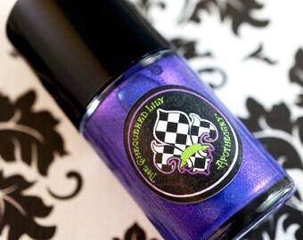 CLEARANCE - Nail Polish Num. NP18 La Araña –  Halloween 2015 Vegan Violet Blue Thermochromic Color Shifting Nail Polish/ Nail Lacquer
