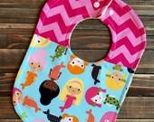 Girl Baby Bib Mermaid Baby Shower Birthday Gift