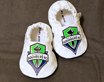 Seattle Sounders FC Baby Booties - Sounders Inspired Baby Shoes