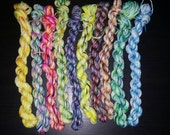 Mini skeins for sock blankies and bee keepers quilt 20 yard minimum Type E-102