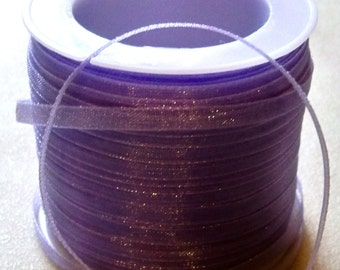 "Lavender Organza Ribbon-1/8""-10 YDS"
