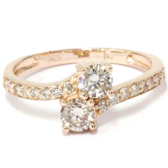 yellow gold diamond engagement ring 1 carat forever us 2 stone. Black Bedroom Furniture Sets. Home Design Ideas