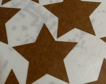 Star Stickers Choose Size and Color Kraft White Gold Foil or Silver Foil