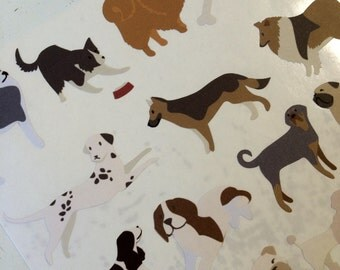 Dog Lovers Stickers for Scrapbooks, Cards, Journals, Planners and More!
