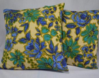 Vintage Pillow Cover, Cushion Cover, Home Decor Pillow, Throw Pillow, Decorative Pillow, 16 in Pillow, Square Pillow - PC9