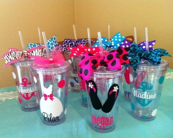 Personalized Tumbler - Destination Wedding Gift - Wedding - Nautical Tumblers - Bride - Bridesmaid - Bachelorette Party