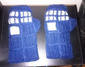 RESERVED for Kelsey Beeckman only - T.A.R.D.I.S. - Inspired Fingerless Gloves