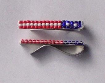 US Flag Tie Clip