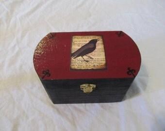 The Raven Keepsake Jewelry Storage Box