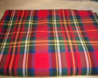 Red Wool Tartan Plaid Fabric