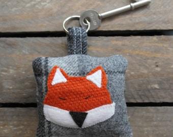 Fox Foxy Orange Wool Keyring