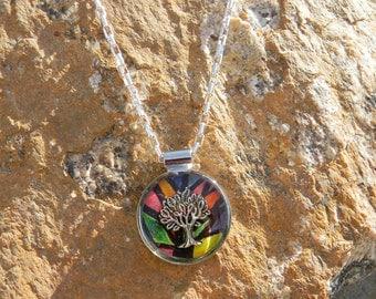 Tree of Life, Pendant, Judaic Jewelry, Spiritual Jewelry, Resin Pendant, Round Pendant,Toggle Clasp Pendant, Tree of Life Necklace