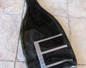 A Wine Bottle from Emeritus Winery Recycled into an Appetizer Plate