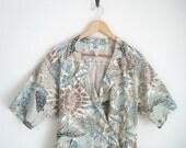 Fern Forest Floral Dress. Safari Utility Dress. Khaki Dress. 90s Dress. Wiggle Dress. Hipster Dress. Short Sleeves Collared Dress. Printed.