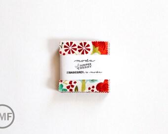 Juniper Berry Candy Pack, Mini Charm Pack, BasicGrey, Moda Fabrics, Pre-Cut Fabric Squares, 30430MC