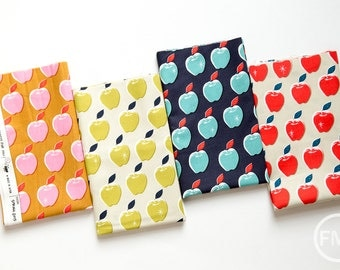 Picnic Apples Fat Quarter Bundle, 4 Pieces, Melody Miller, Cotton+Steel, RJR Fabrics, 100% Cotton Fabric, 0021