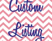 Custom Listing for Jenny