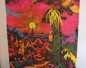 "SALE Vintage ""Lost Horizon"" Blacklight Original Poster"