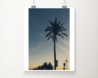 palm tree photograph sunset photograph nice photograph france photograph palm tree print mediterranean print silhouette photograph