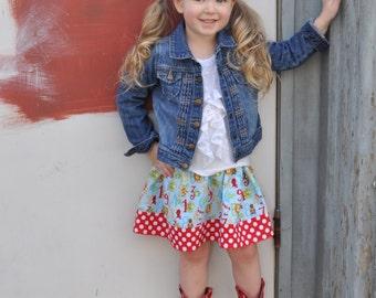 Light blue 123-456  Skirt  (2T, 3T, 4T, 5, 6, 7, 8, 10)