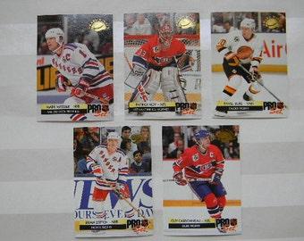 HOCKEY, 1992 ProSet Hockey Award Winners, 5 Card Set