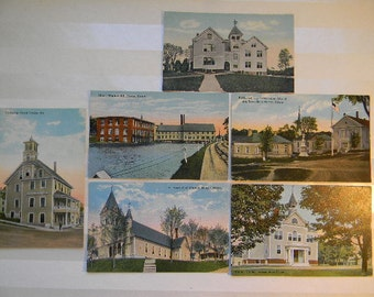 Maine Postcards, (6) Vintage DEXTER MAINE  Postcards