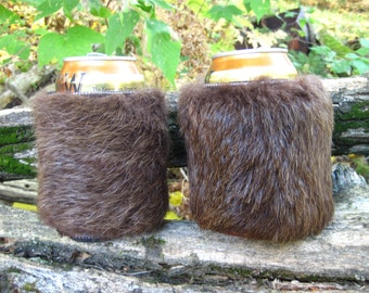 Beaver Fur Can And Bottle Cozies/Coolers P-001