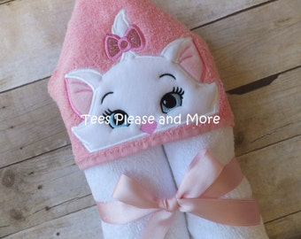 Aristocats Marie Inspired Hooded Towel or Pool Wrap