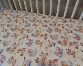 Adorable Beach Babies by the Sea . Crib or Toddler Bed Fitted Cotton Sheet