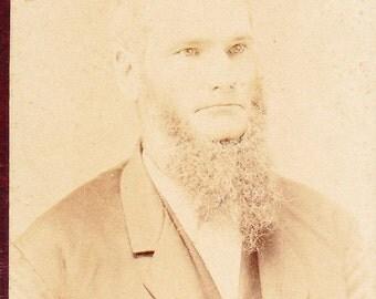Old Photograph Bearded Gentleman Vintage Photo Paper Ephemera Snapshot Photo Collectibles