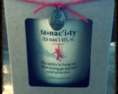Soy Candle - Beautiful 10oz Jar/Eco Wick/Choose Scent/Definition of Tenacity...Keep on your journey. Makes great inspirational gift.