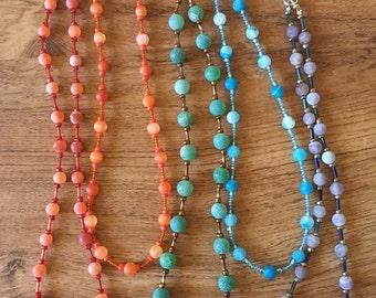 Dragon vein agate necklaces