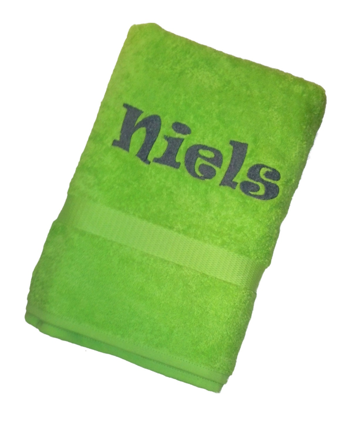 Personalised Embroidered Towel Bathtowel Name Embroidery
