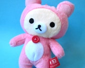 Rilakkuma plush charm (Pink Squirrel)