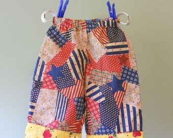 handmade Americana reversible pants for baby 6 to 12 months