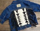 Cheyenne Hipster Jean Jacket 3 month // Pendleton Black Leather Fringe // Rosebud Originals