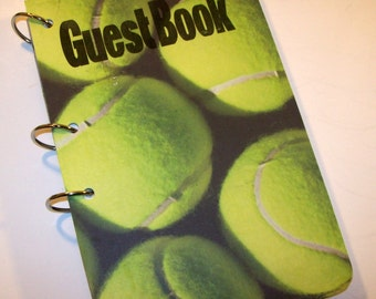 Guest Book, Tennis Party, Tennis Birthday,  Party Sign in Book, Summer Birthday Guest Book, Sports Party Decor