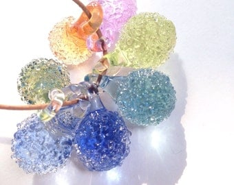 Sea Glass Jewelry, Crystal Pendant, Glass Necklace Pendant, SET OF 7 Small